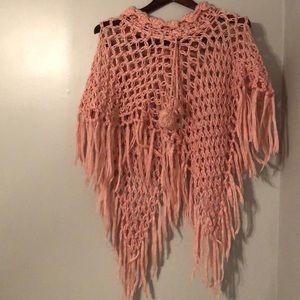 Arden B. Pink Knit Poncho